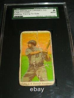 1915 E106 Ty Cobb Batting SGC Authentic. Super Rare! Detroit Tigers Hofer