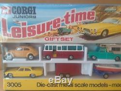 1960's CORGI JUNIORS GIFT SET / LEISURE-TIME #3005 SUPER RARE