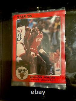 1985 Jumbo Star Co Team Supers Bag Set Mint 9 Gai Michael Jordan Rc Super Rare