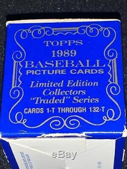 1989 Topps TIFFANY Traded Baseball Complete Sealed Set KEN GRIFFEY, SUPER RARE