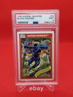 1990 Marvel Universe Black Panther #20 PSA Mint 9 Super Heroes HOT SET! Rare
