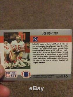 1990 Rare! Joe Montana Pro Set Super Bowl XVI MVP Card #16. Ready to ship
