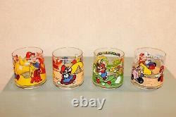 1993 Nintendo Super Mario Rare Vintage Glasses Set
