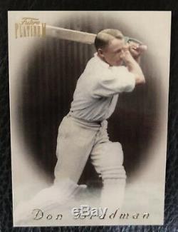 1996 Don Bradman Futera Platinum 4 Card Set. One Card Hand Signed Super Rare
