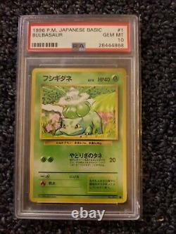 1996 Pokemon Japanese Base Set Bulbasaur PSA 10 Super Rare WOTC Pop 48