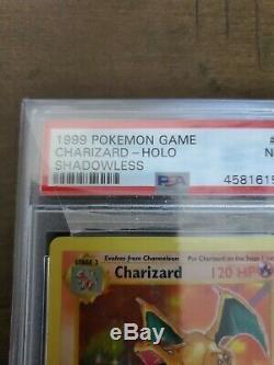 1999 #4 Charizard Holo Unlimited Base Set PSA 7 NM Shadowless Super Rare