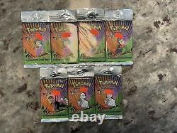 1999 Pokemon Base Set WOTC Unlimited Booster Packs 15 packs UNOPENED SUPER RARE