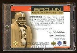 2000 Ud Jim Brown Gold Autograph Auto #d /50 Super Rare Autograph Set Browns Hof