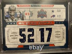 2008 Michael Irvin National Treasures Super Bowl Auto And Patch 4 Card Set Rare