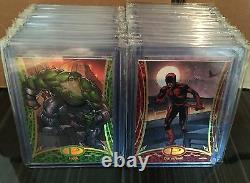 2014 UD Marvel Premier SUPER RARE COMPLTE GOLD Base Set 60 Cards /25 IMPOSSIBLE