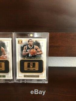 2016-17 Panini Impeccable Basketball 14K Gold Bar Complete Set (1-10) Super Rare