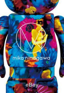 2016 Medicom BEARBRICK Mika Ninagawa Anemone 400% & 100% Set super rare Kaws