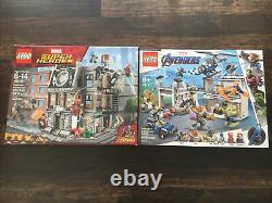 2 New Retired Marvel lego sets Avengers 76131 & Super Heroes 76108 Rare LOOK