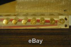 416 Rigby ICCA Draw Set in Lucite by BELL super rare one only