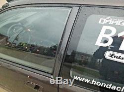 92-95 Honda Civic B pillar trim set 100% carbon fiber super rare JDM EG6 EJ