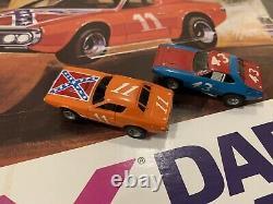 AFX Daredevil Hazard Slot Car Set Rebel Charger 11 Plymouth 43 Dukes SUPER RARE