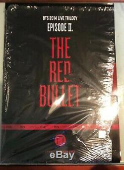 BTS Red Bullet Clear File Folder Full Set Opened Super Rare