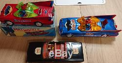 Batman Batman Car Batmobile Tin Car Showa Retro 3 Set Super Rare Japan F/S