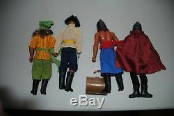 Big Jim Mattel Pirate Figures Super Rare Set Htf Pirates