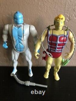 Big Lot Of 7 1986 ljn Tigersharks Action Figure Set With Accessories Super Rare