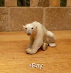 Bing and Grondahl Copenhagen Polar Bear Family Set of 3 Super Rare