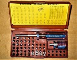 Brownells Master Super-Set 58 Bit, Magna-Tip Screwdriver Set, Rare Gunsmith Tool