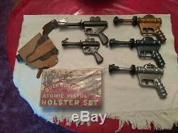 Buck Rogers U-238 pistol and holster set 1930's Collection. Super RARE