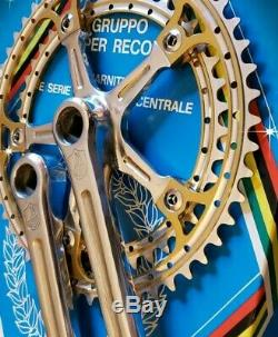 Campagnolo Colnago Masi Crank Set 1982 172.5 Super Rare Vintage Bicycle Erica