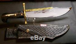 Case XX Bowie Knife 5 Dot Black Handles 1985 USA Made Super Rare Collectible Set
