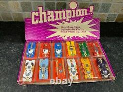 Champion Super 1/66 Racing Car Set Shop Display Made In France Rare