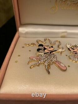 Disney Disneyland Resort Boxed Minnie Dance Studio Pin Set Super Rare Htf