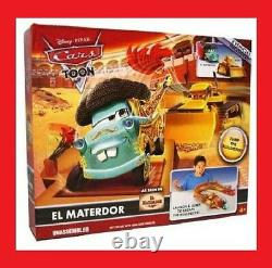 Disney Pixar Cars Toon El Materdor Launcher Play Set With Chuy New Super Rare