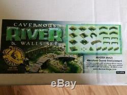 Dwarven Forge Cavernous River & Walls Set NEW SEALED SUPER RARE 1st Castng