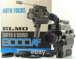 FedEx RARE FULL SET ELMO SUPER 8 SOUND 6000AF MACRO 8MM MOVIE CAMERA JAPAN