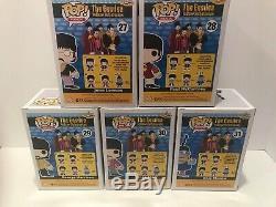 Funko Pop Music The Beatles Color Rejects Set #6 Of 10 Super Rare Lot Bundle Set