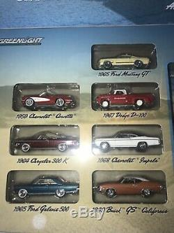 Greenlight Route 66 Super Rare Signed Set With 1988 Ford Mustang Green Machine