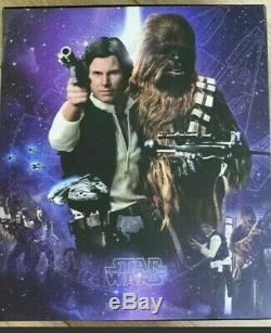 Hot Toys Star Wars MMS263 Han Solo Chewbacca 1/6 scale super rare set complete