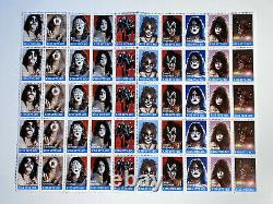 KISS Stamps from 1980 by Swedish POSTER Magazine SUPER RARE! Sweden Full set