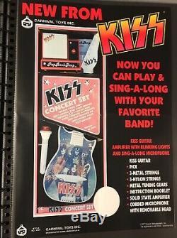 Kiss 1977 Aucoin Carnival Concert Set Promo Poster! Super Rare