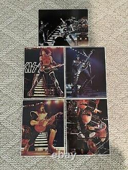 Kiss 1978 Double Platinum Order Form 5 Photo Set Aucoin Super Rare All 4 & Group