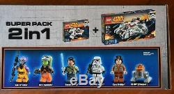 LEGO 66512 Star Wars 2-in-1 Super Pack (75053 Ghost + 75048) RARE NIB NEW SEALED