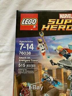 LEGO 76038 Marvel Super Heroes Attack On Avengers Tower NIB, Rare, Retired