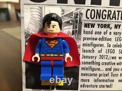 Lego DC Super Man Mini Figure 2011 Nycc Sdcc Uber Rare 1 Of 200