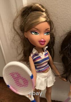 MGA Bratz 2006 Play Sportz Tennis Yasmin Meygan Doll Set Super RARE & Fianna