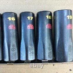 Mac Tools 3/8 Drive Metric Super Sockets SXSSM126TR New Rare USA Made