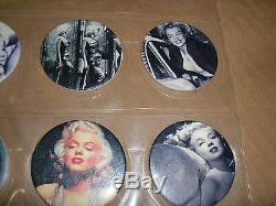 Marilyn Monroe Pogs Set Of 10 Super Rare