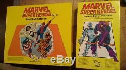 Marvel Super Heroes Unpainted Metal Miniatures Sets 1 & 3 by TSR 1985 RARE