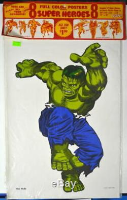 Marvel Super Heros MMMS CLUB POSTER SET RARE Personality Poster 1966 Marvelmania