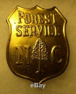Metal Set PB NC Forest Service Badge & Super Rare NC Forest Service Pilot Wing