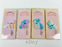 My Little Pony G1 Quartz Clock set of 4 super rare Strawberry Wiggles vintage